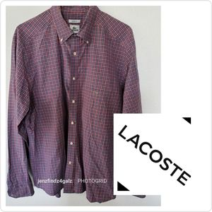 NWOT LACOSTE Mens Long Sleeve Button Down Shirt …